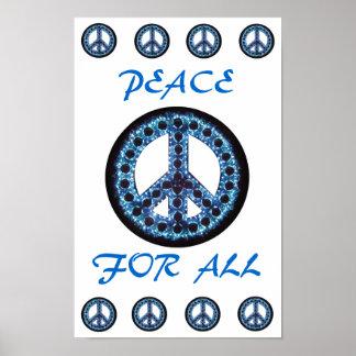 paz azul para todo el poster