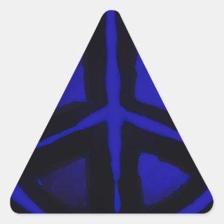 Paz azul colcomanias trianguladas personalizadas