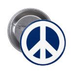 Paz azul y blanca pin