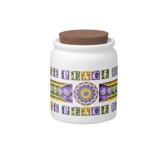 Paz balanza armonía mandala jarra para caramelo