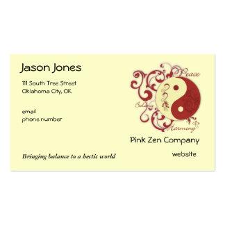Paz, balanza, armonía tarjetas de visita
