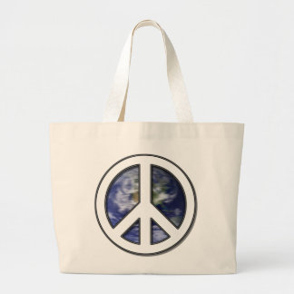 Paz blanca Sign7 de la tierra Bolsa De Mano