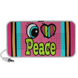 Paz brillante del amor del corazón I del ojo iPhone Altavoz