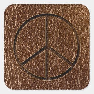 Paz Brown de la Cuero-Mirada Pegatina Cuadrada