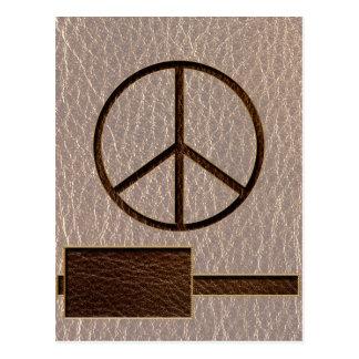 Paz Brown de la Cuero-Mirada suave Tarjetas Postales