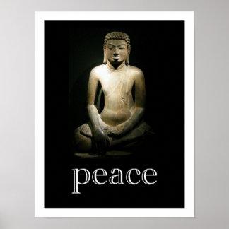 Paz Buda de la meditación Impresiones
