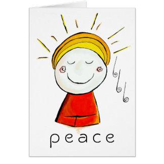 Paz Buda Tarjeta De Felicitación