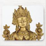 Paz budista del arte de Tíbet de la yoga de la Tapete De Ratones