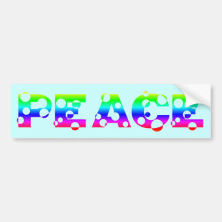 PAZ burbujeante del arco iris del punto Etiqueta De Parachoque