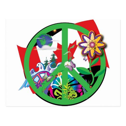 Paz CA del planeta Tarjeta Postal