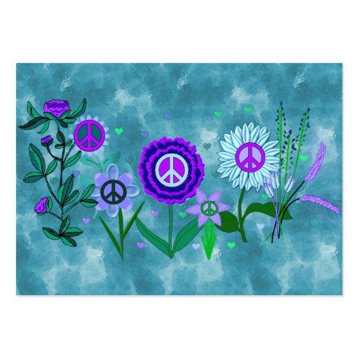 Paz cada vez mayor tarjetas de visita grandes