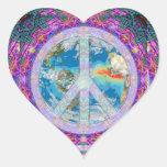 Paz Calcomania De Corazon