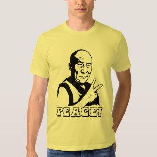 ¡PAZ! Camiseta de Dalai Lama Poleras