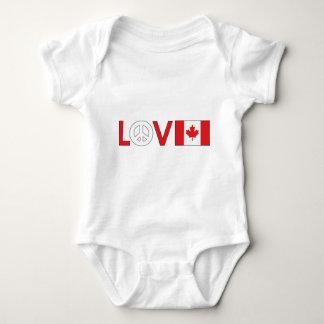 Paz Canadá del amor Playera
