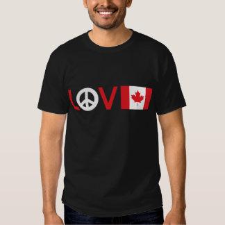 Paz Canadá del amor Playeras