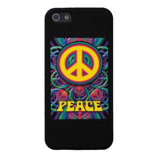 ¡Paz! - Caso duro de Speck® Fitted™ Shell para el  iPhone 5 Coberturas
