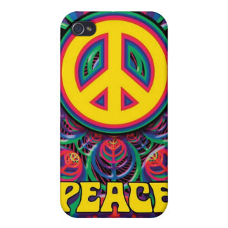 ¡Paz! - Caso duro de Speck® Fitted™ Shell para el  iPhone 4 Protector