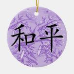 Paz china del símbolo adorno de reyes