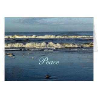 Paz - cita de la biblia tarjeta pequeña