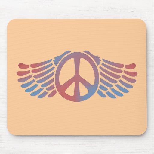 Paz coa alas tapete de raton