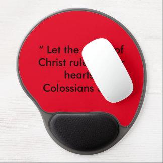 """""""Paz cojín de ratón de motivación de Cristo"""" Alfombrilla Gel"""