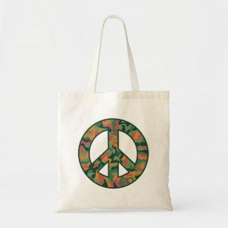 Paz colorida de Camo Bolsa De Mano