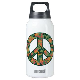 Paz colorida de Camo Botella Isotérmica De Agua
