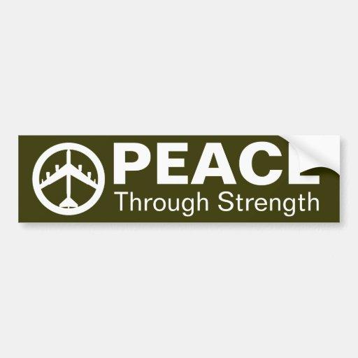 Paz con fuerza pegatina para auto