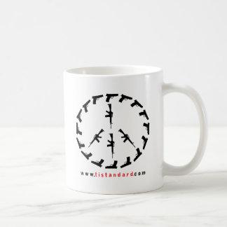 Paz con fuerza taza de café