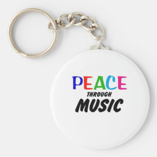 Paz con la música (arco iris) llavero personalizado