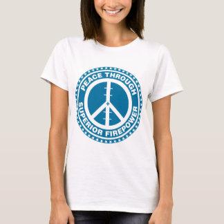 Paz con la potencia de fuego superior - azul playera