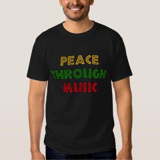 Paz con música camisas