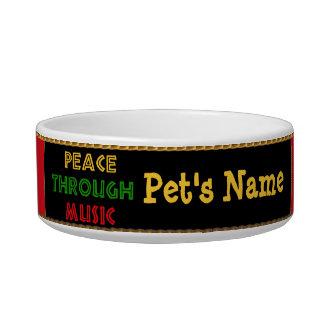 Paz con música comedero para mascota