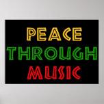Paz con música impresiones