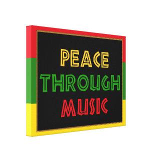 Paz con música impresiones en lona