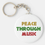 Paz con música llavero