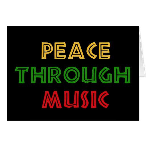 Paz con música tarjeta de felicitación