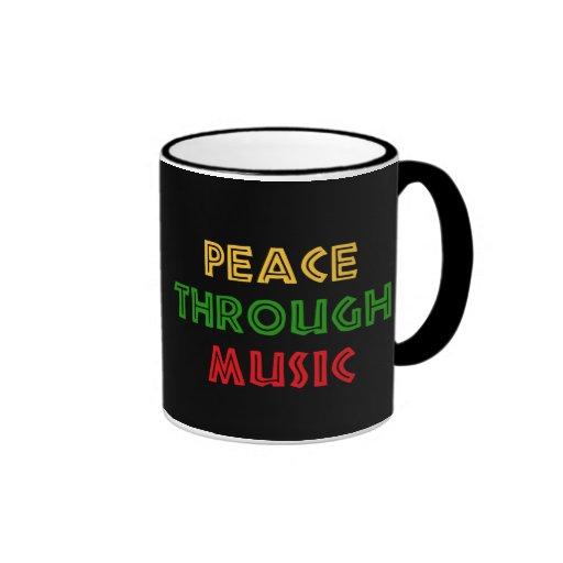 Paz con música taza