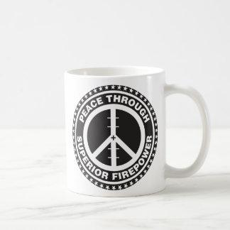 Paz con potencia de fuego superior taza