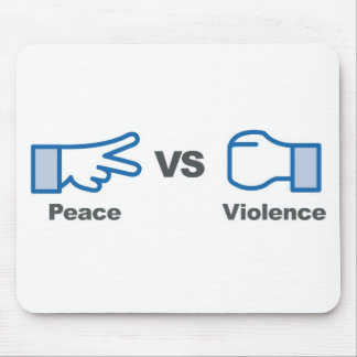 Paz contra violencia tapetes de ratón