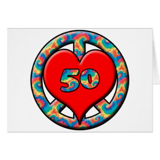 Paz, corazón, 50 tarjeta de felicitación