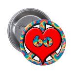 Paz, corazón, 60 pins