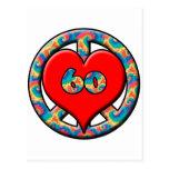 Paz, corazón, 60 postal