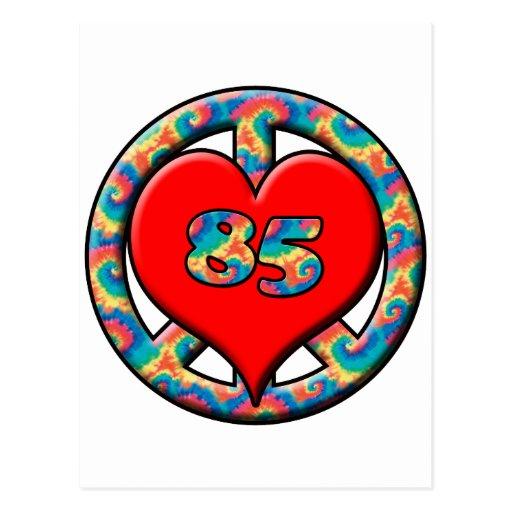 Paz, corazón, 85 tarjeta postal