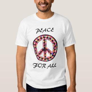 paz de 5 colores para toda la camiseta remera