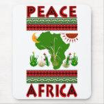 Paz de África Alfombrilla De Ratón