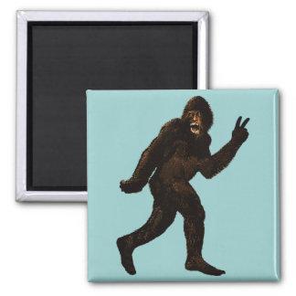 Paz de Bigfoot Imán Cuadrado