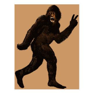 Paz de Bigfoot Tarjeta Postal