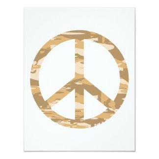 """Paz de Camo del desierto Invitación 4.25"""" X 5.5"""""""
