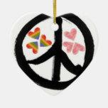 Paz de corazones ornamentos de reyes